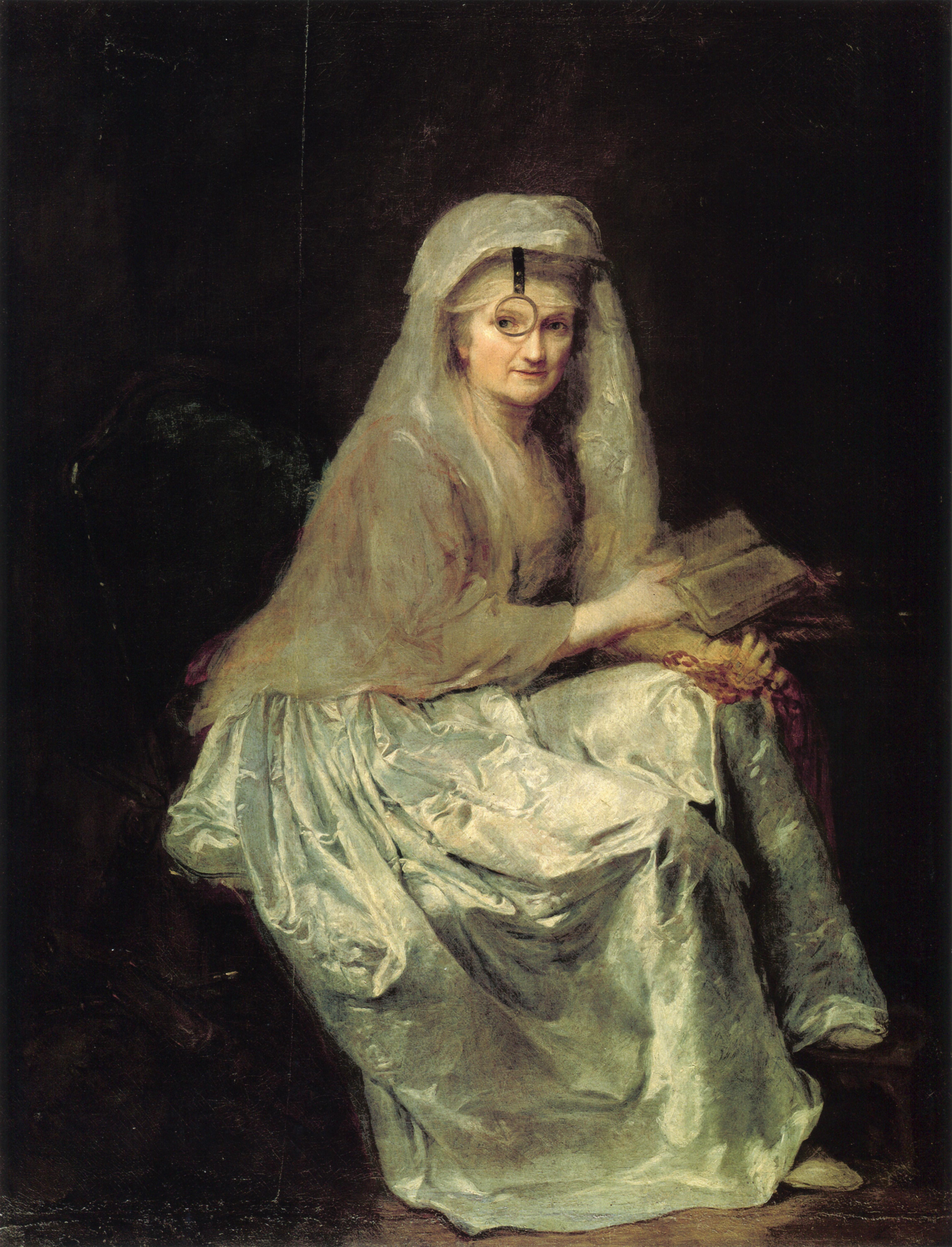Los libros en el arte - Autorretrato de Anna Dorothea Therbusch