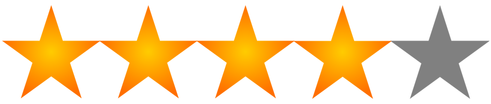 Image result for 4 out of 5 star rating