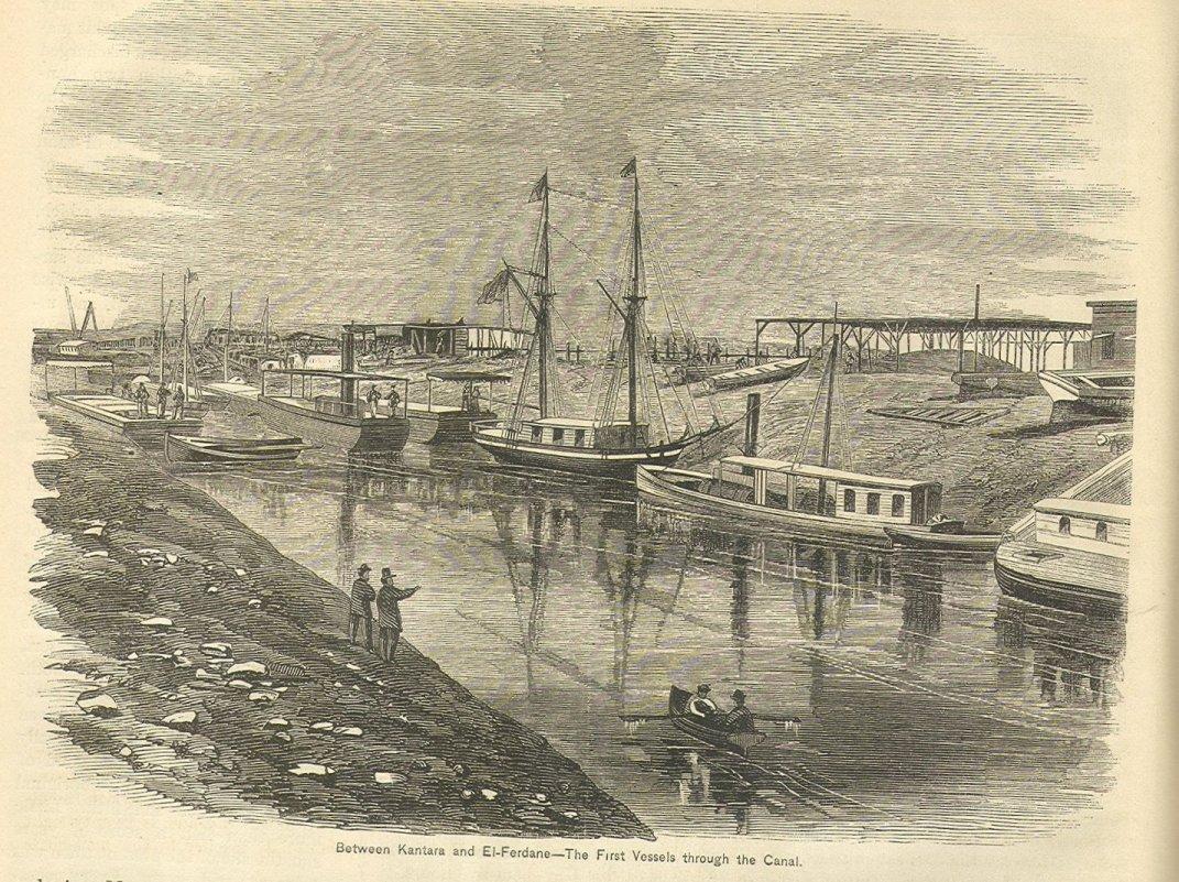 suez canal in 1869
