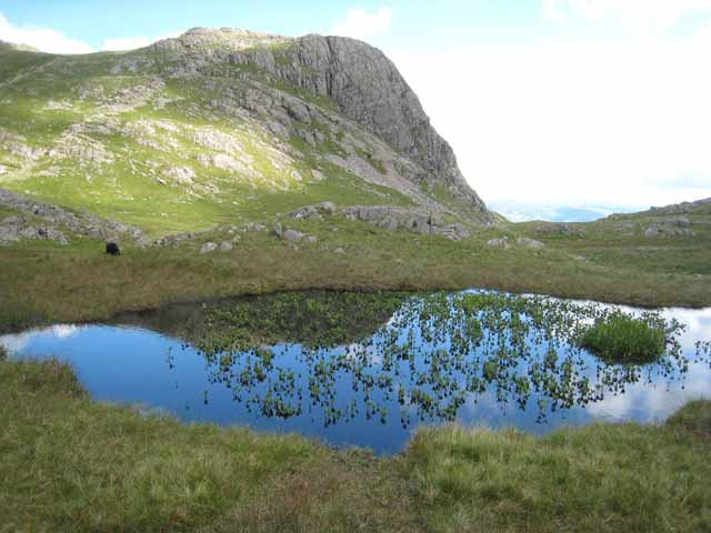 Tarn at the head of Dungeon Ghyll - geograph.org.uk - 490566