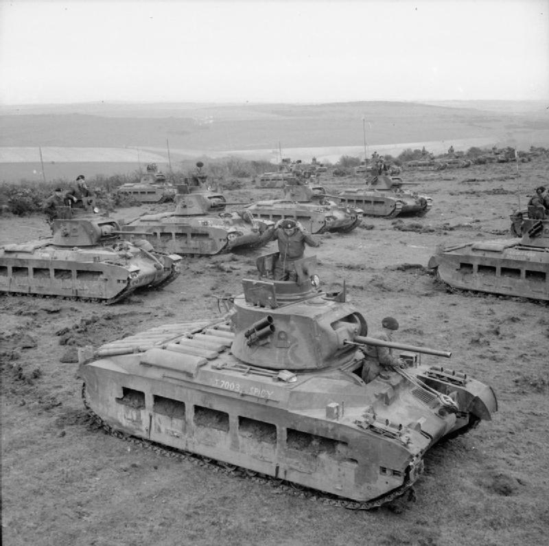 Matilda II tanks during maneuvers