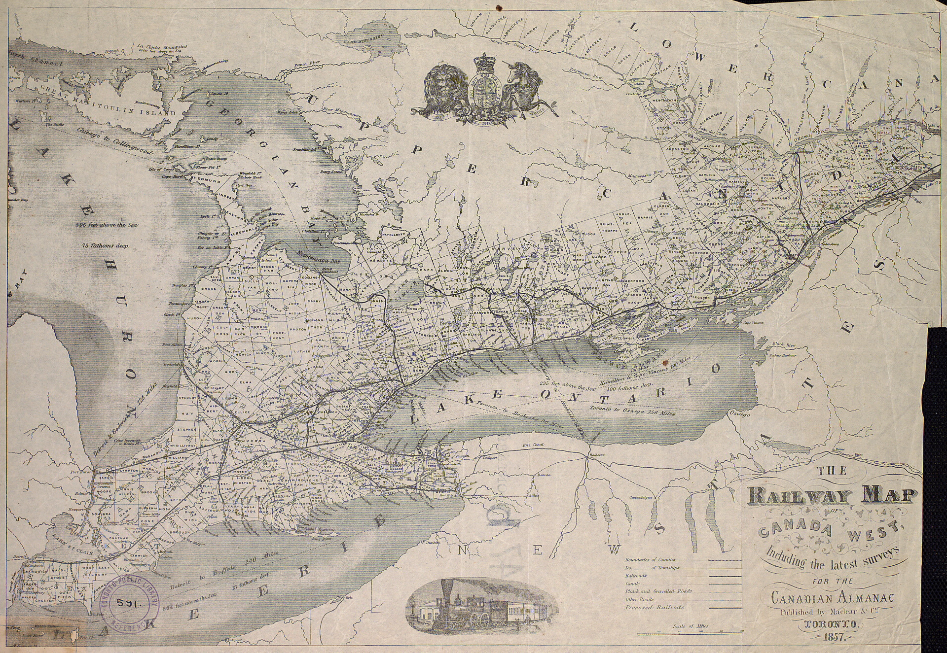 filethe railway map of canada west including the latest surveys for the canadian almanac