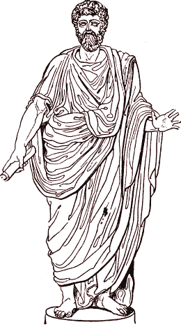The toga was the characteristic garment of the...