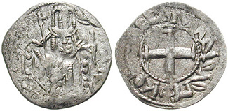 Andronikos II's debasement of the Byzantine currency, along with his co-rule with his father, his son and his grandson as well as his own sole rule, resulted in the minting of several different coins during his reign.