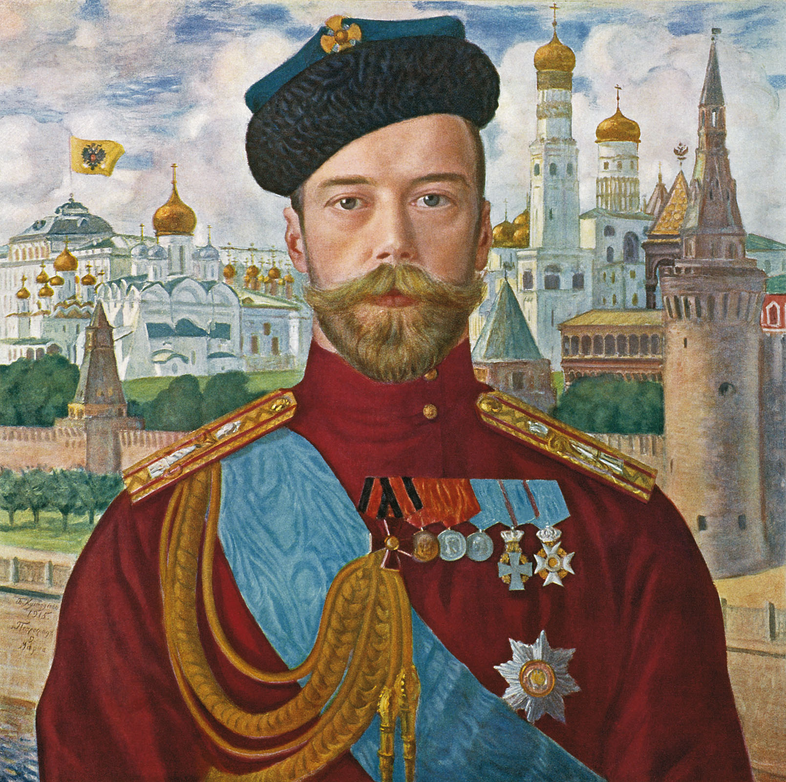 Boris Kustodiyev painting of Nicholas II, 1915