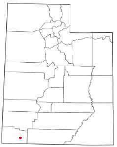 Location of Virgin, Utah