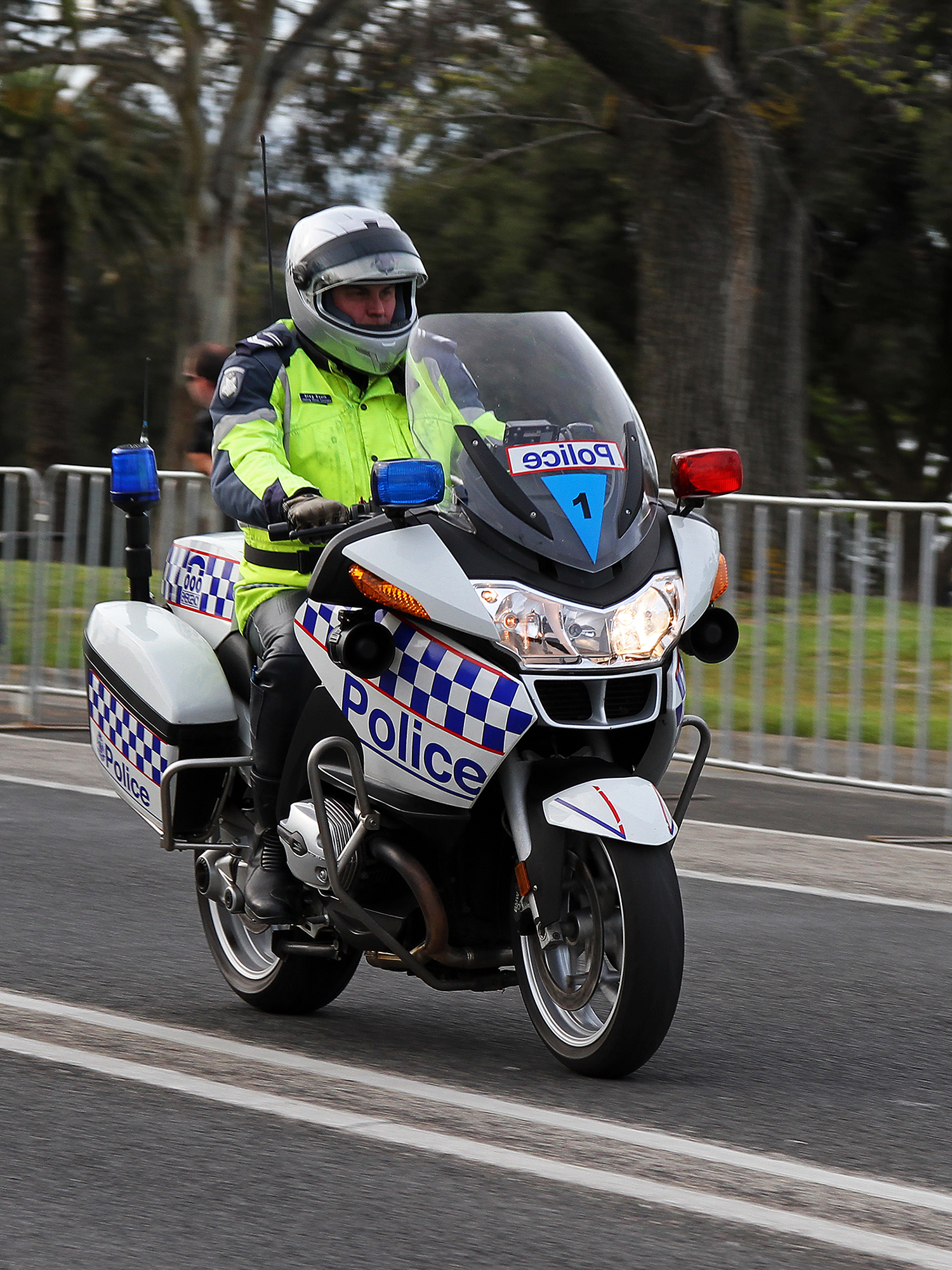 police police motorcycles are commonly used for patrols and escorts as seen here in