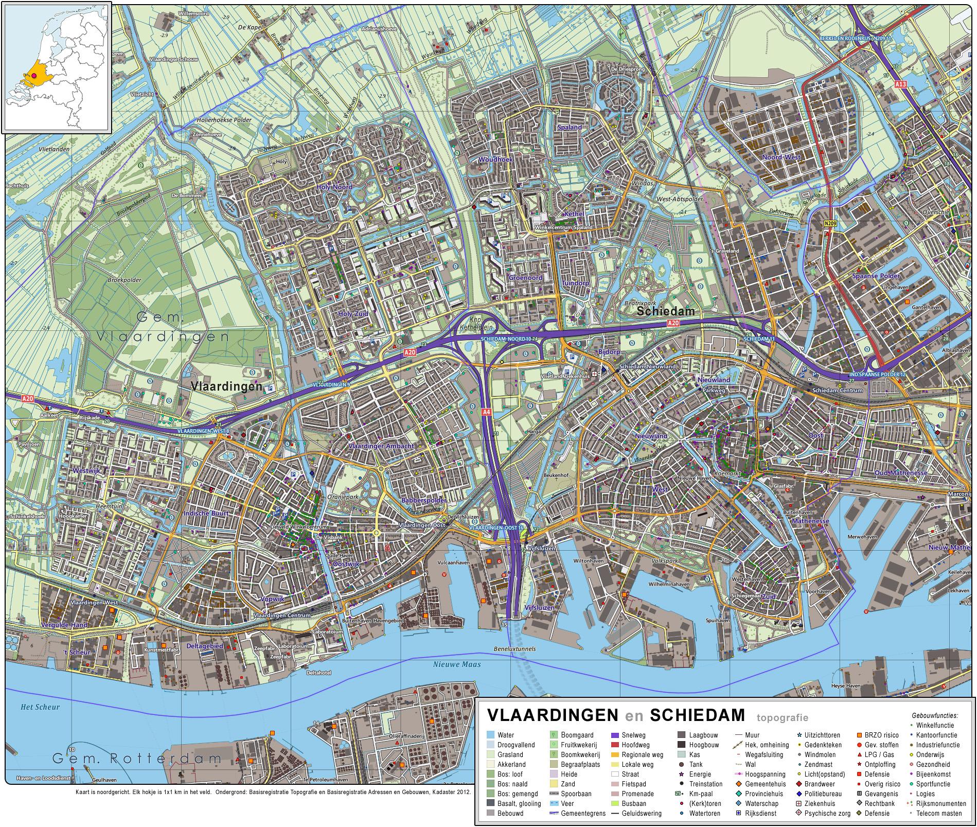 File Vlaardingen Schiedam Topografie Jpg Wikimedia Commons