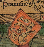 Coat of arms of the Duchy in Schedel's World Chronicle of 1493