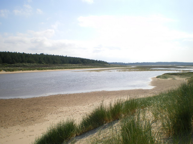 West end of a lagoon behind the dunes at Holkham - geograph.org.uk - 1404486