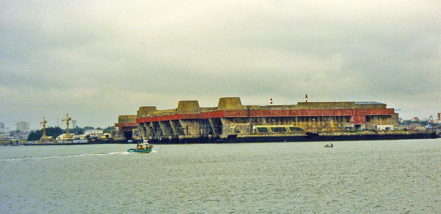 File:World War II U-Boat pens at Lorient, France ...