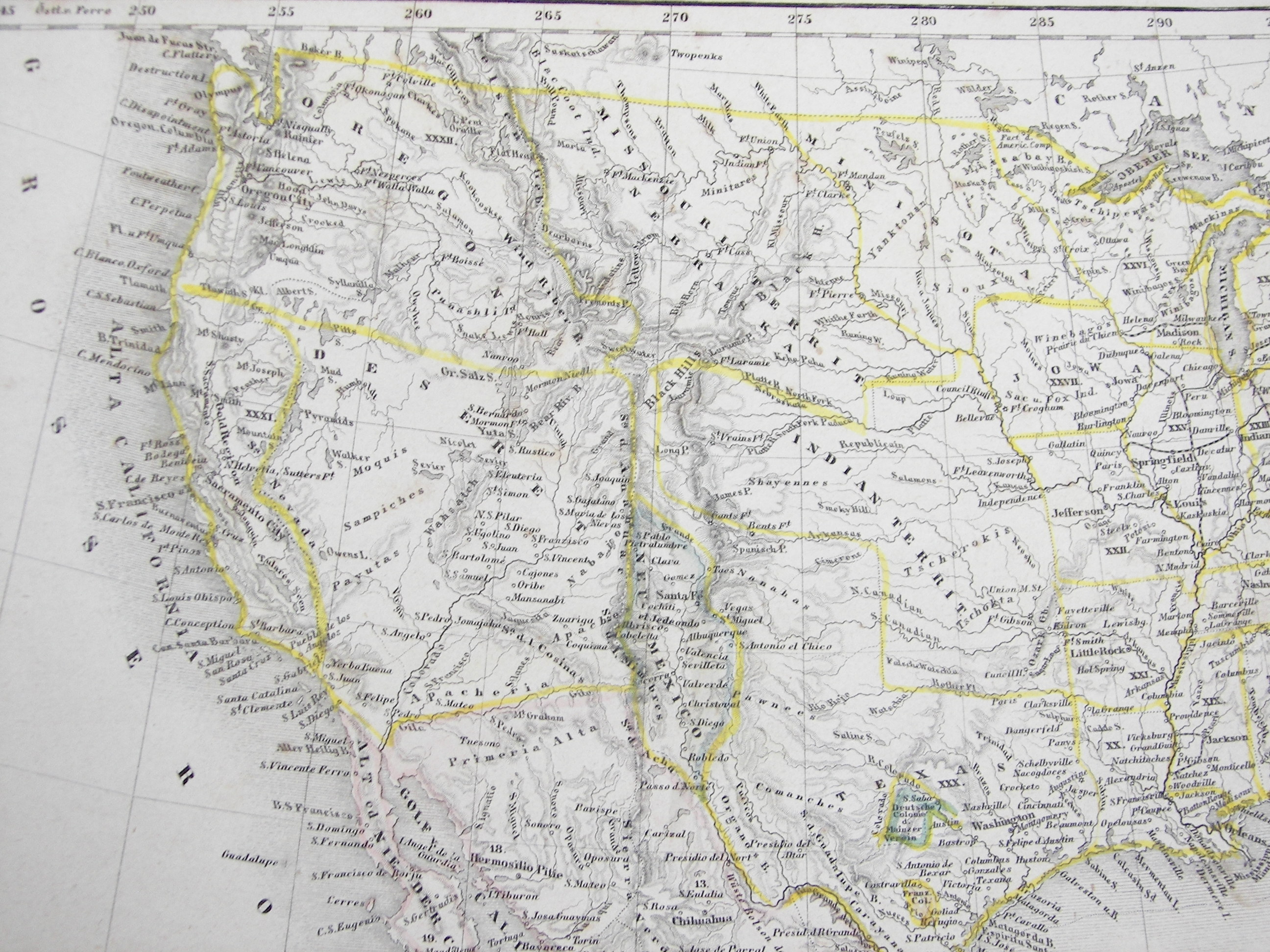 File Vereinigte Staaten Von Nord America Und Mexico Meyer - Map of us states highways