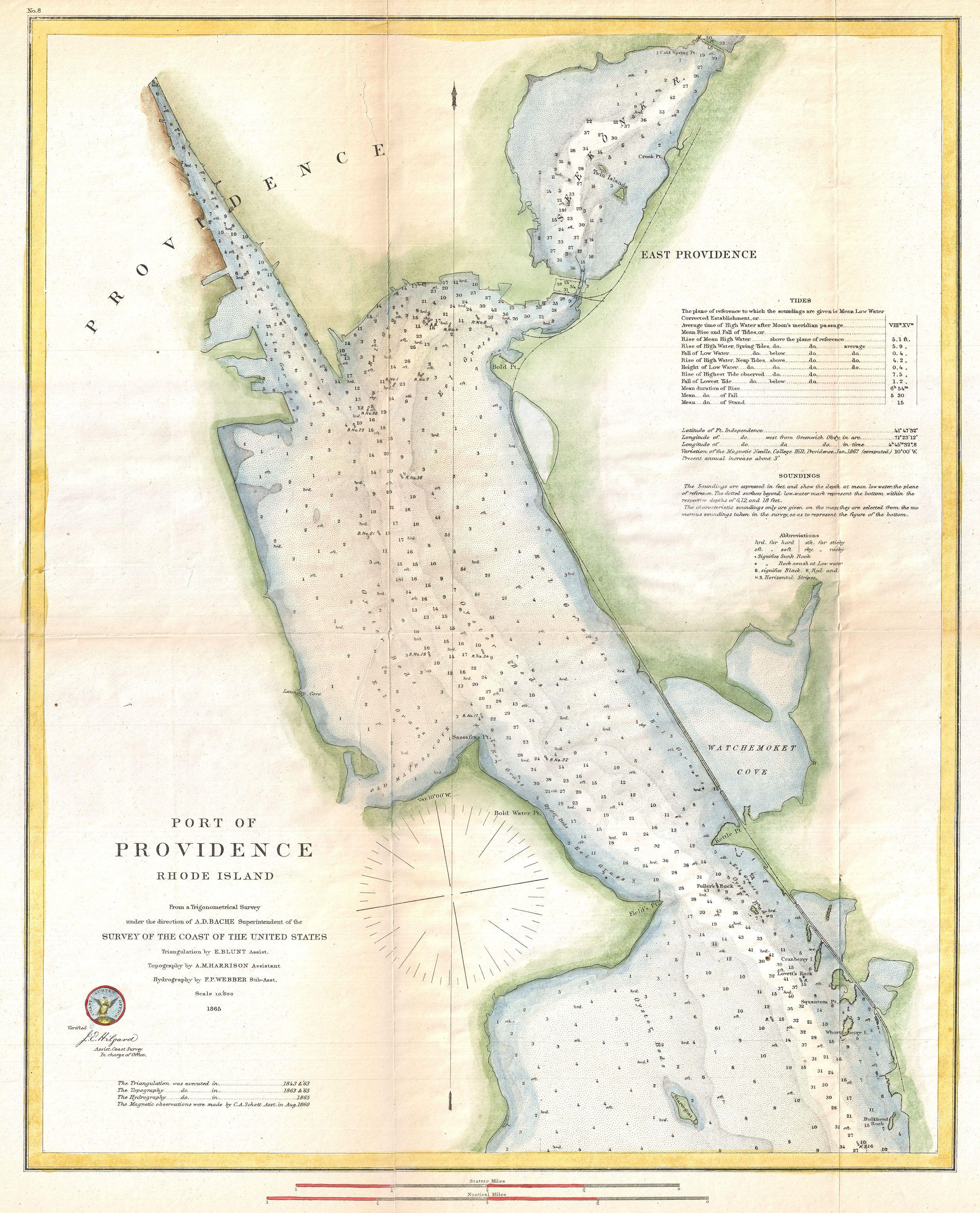 file 1865 u s coast survey map or chart of providence rhode island geographicus