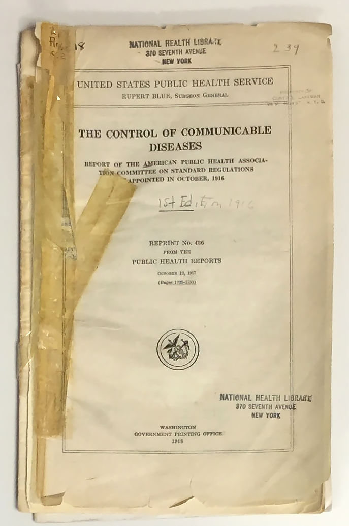 Control of Communicable Diseases Manual - Wikipedia