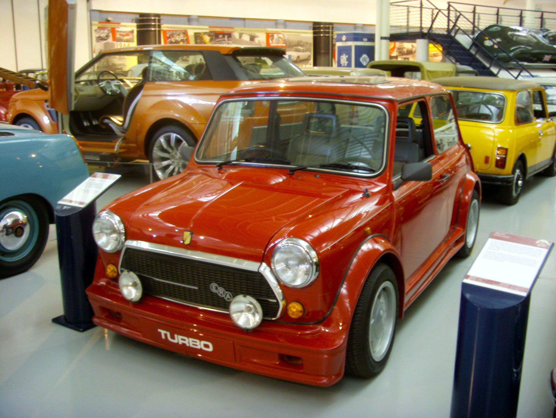 ... Mini ERA Turbo Heritage Motor Centre, Gaydon.jpg - Wikimedia Commons: https://commons.wikimedia.org/wiki/File:1990_Rover_Mini_ERA_Turbo...