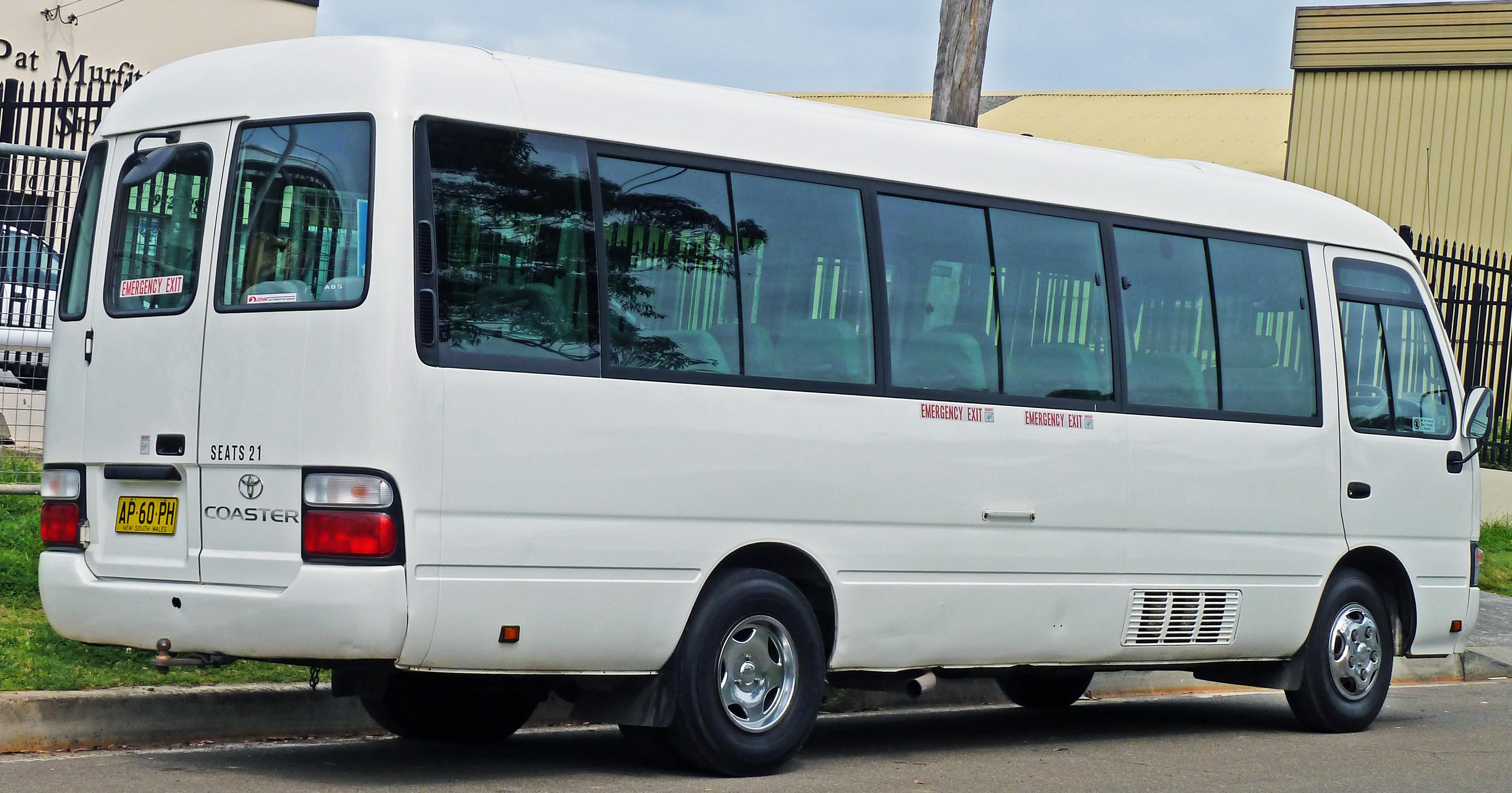 e8a2670ae9 File 2001-2007 Toyota Coaster bus 02.jpg - Wikimedia Commons