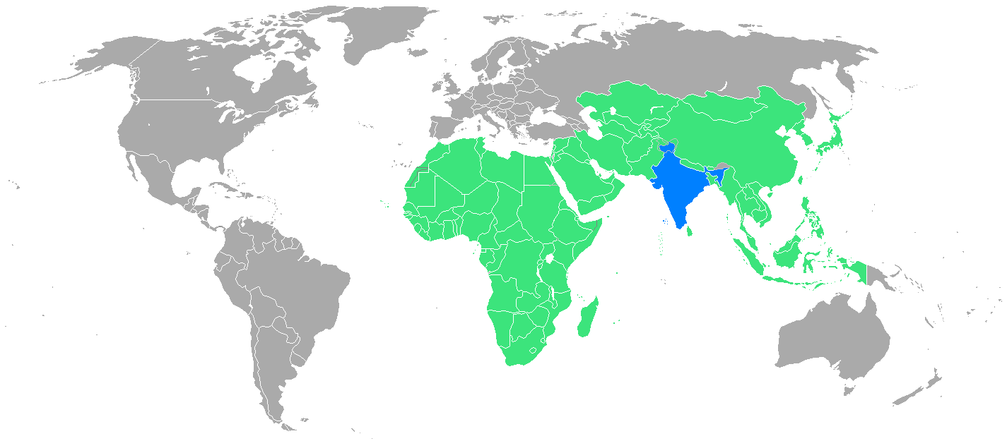 2003 Afro Asian Games participating nations - Asian Games Nations