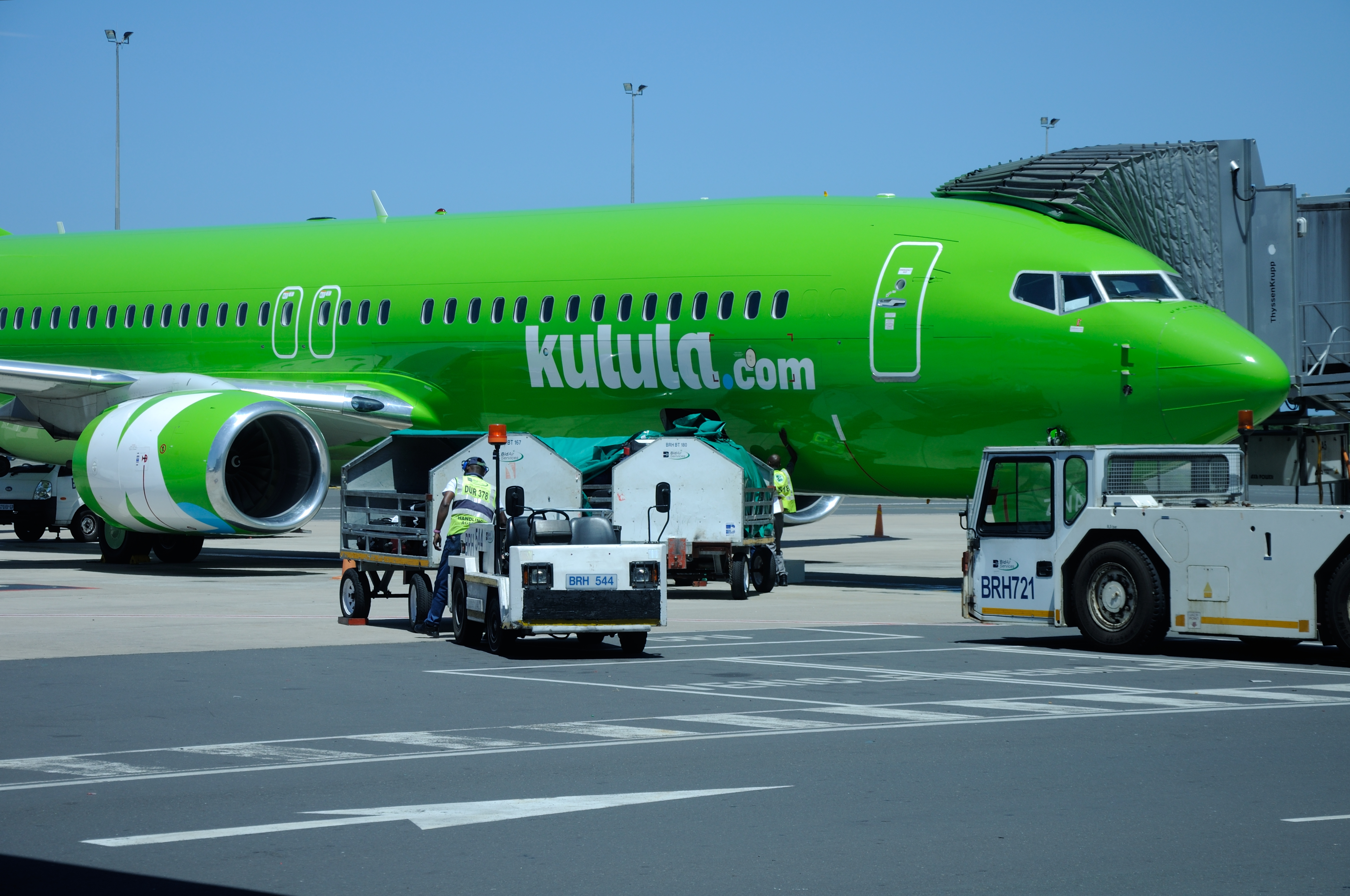 Kulula Low Cost Domestic Airplane in South Africa