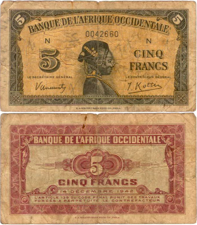 French West African franc - Wikipedia