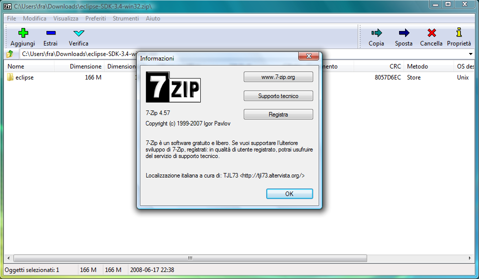File 7 zip italian on windows for Window zip file