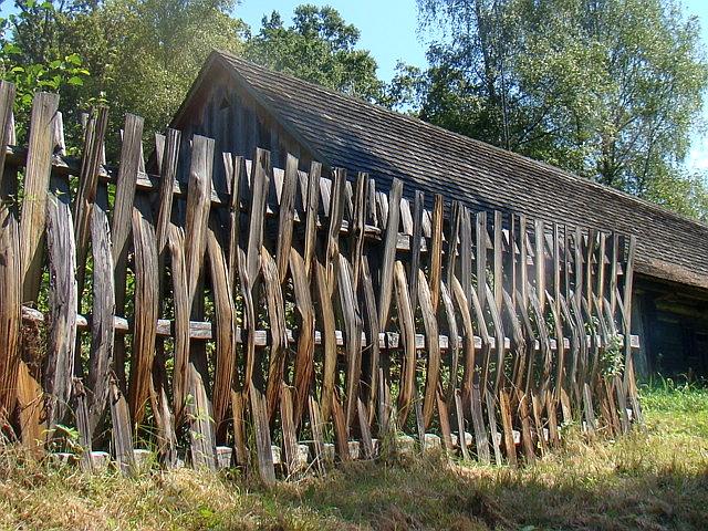 File A Wooden Pole Fence From Sanok County Skansen In