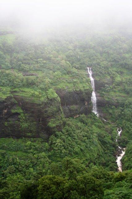 waterfall on the way to Lonavala
