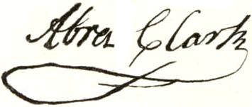 Abraham Clark Signature