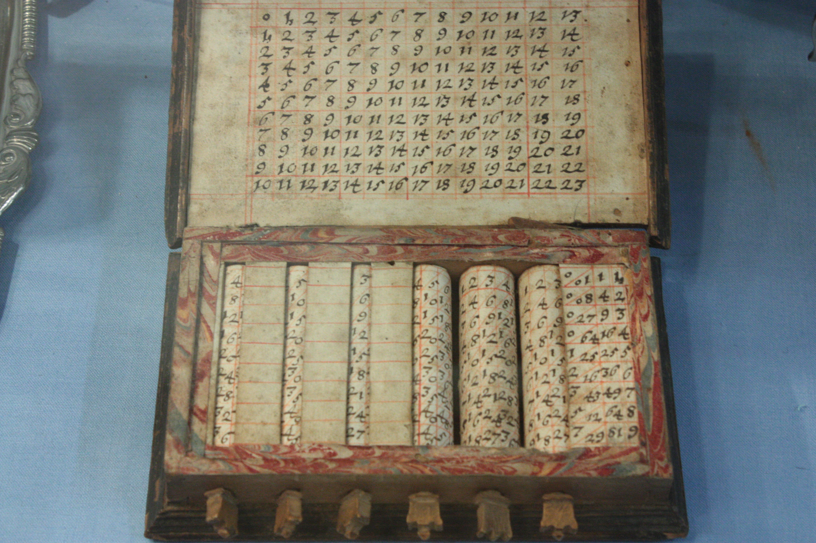 Multiplication Table Chart: Napier7s bones - Wikipedia,Chart