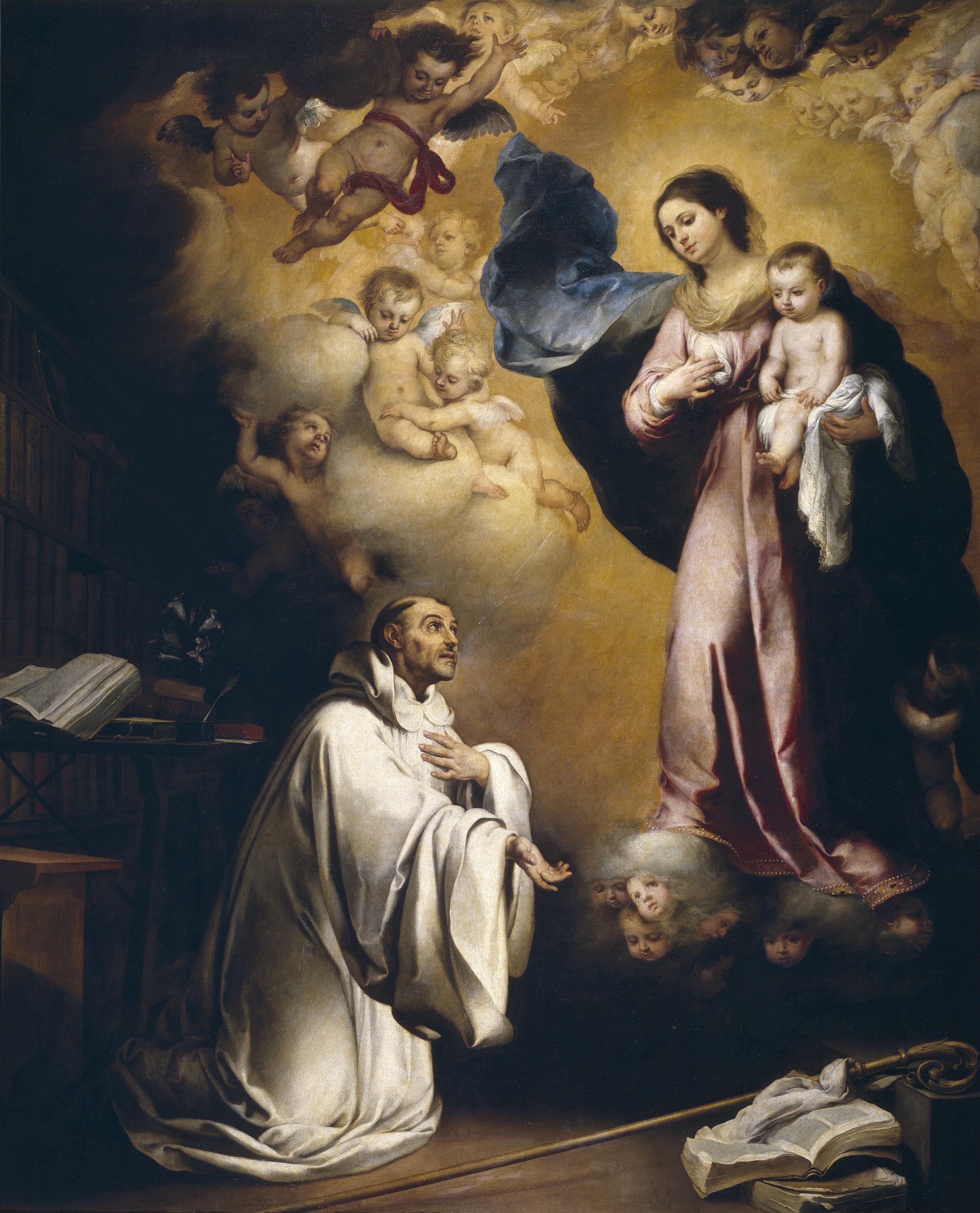 Archivo:Aparición de la Virgen a san Bernardo.jpg - Wikipedia, la  enciclopedia libre