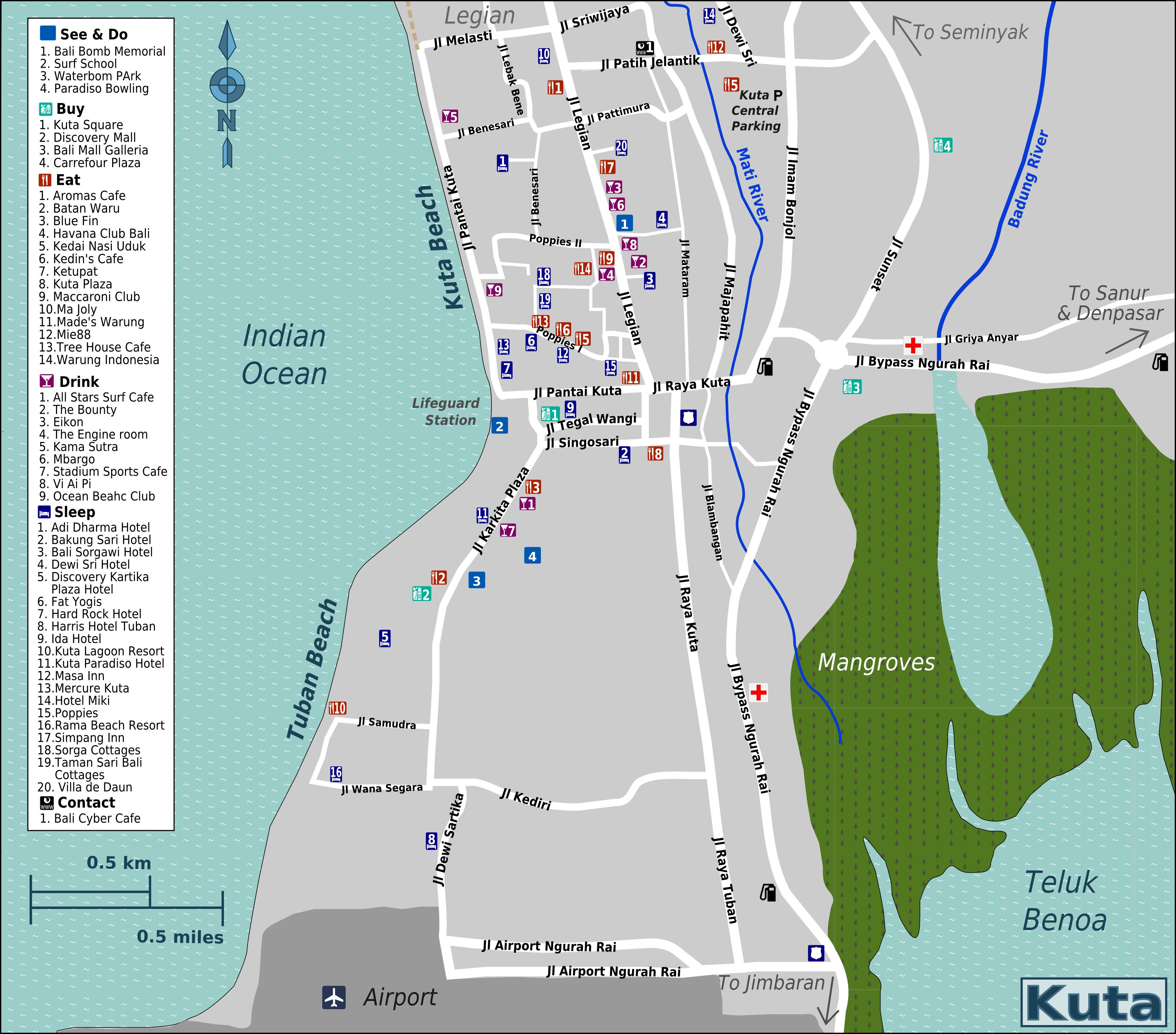 File Bali Kuta Map Png Wikimedia Commons