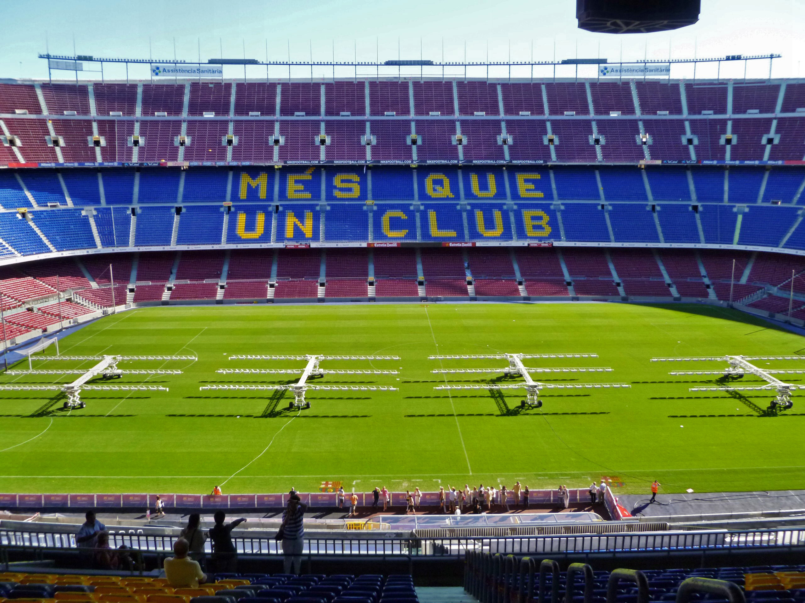 Vista interior del Nou Camp