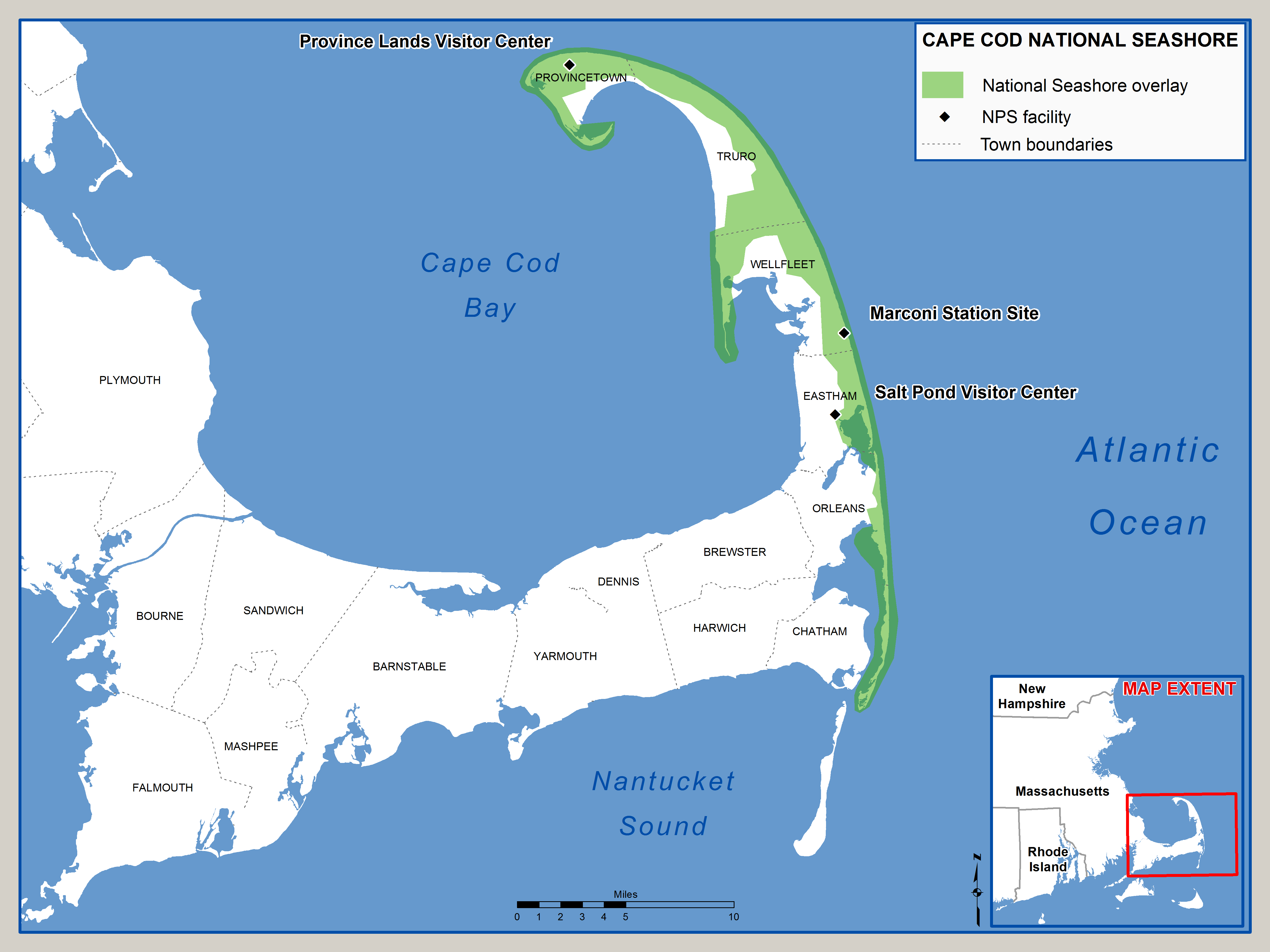 photo regarding Printable Map of Cape Cod identified as History:Cape Cod Countrywide Seaside.png - Wikimedia Commons