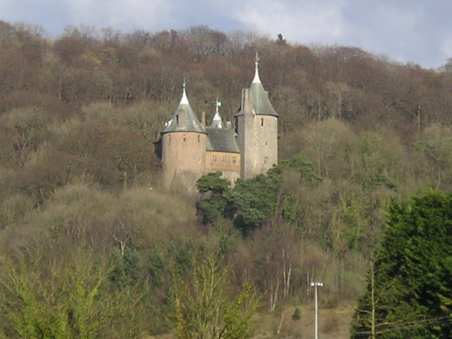 Castell Coch Woodlands and Road Section