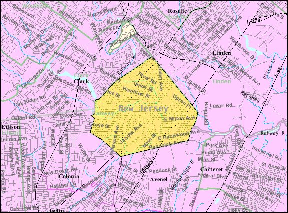 Rahway (NJ) United States  City pictures : Census Bureau map of Rahway, New Jersey Wikimedia Commons