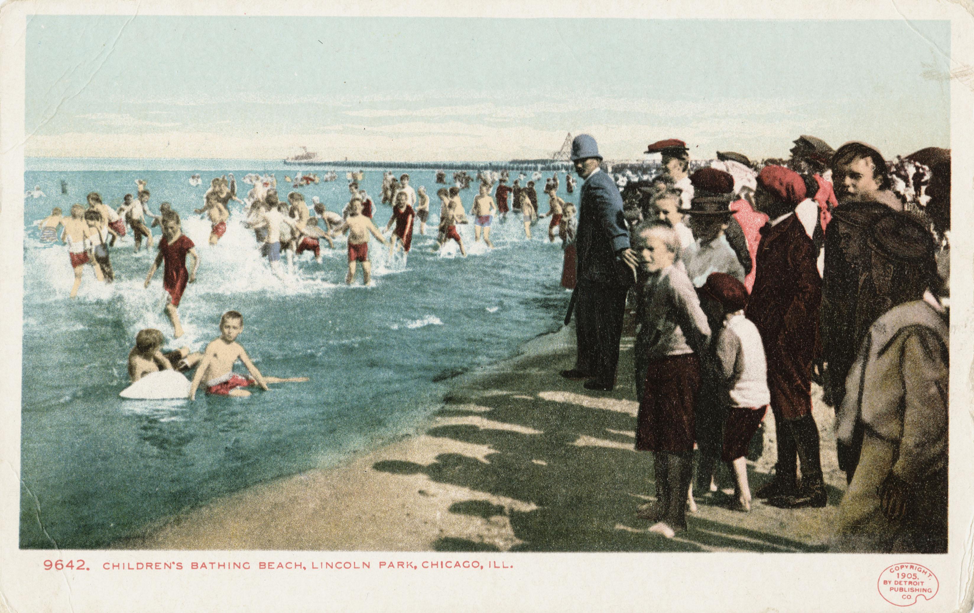 File Children S Bathing Beach Lincoln Park Chicago