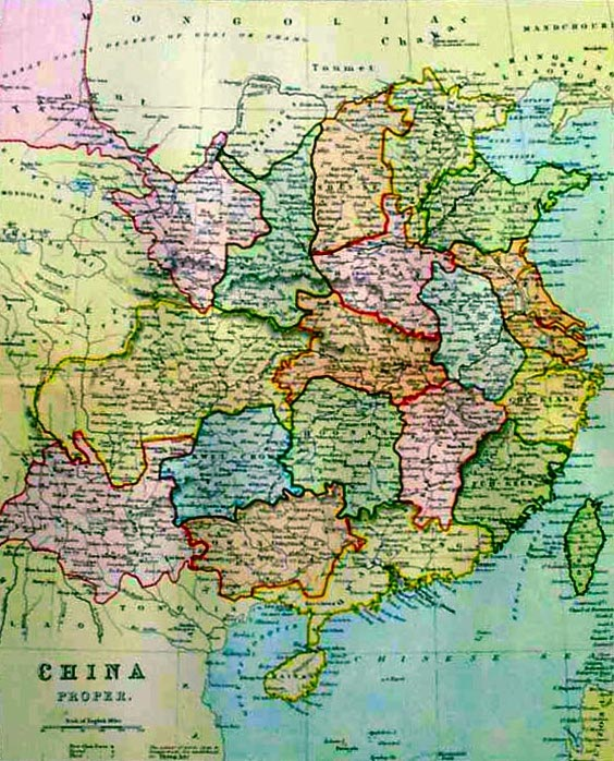 Eighteen provinces (China proper) 1875