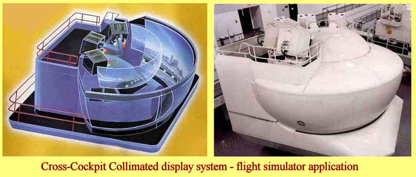 Utilisation du collimateur pour l'application de simulateur de vol et CCCD
