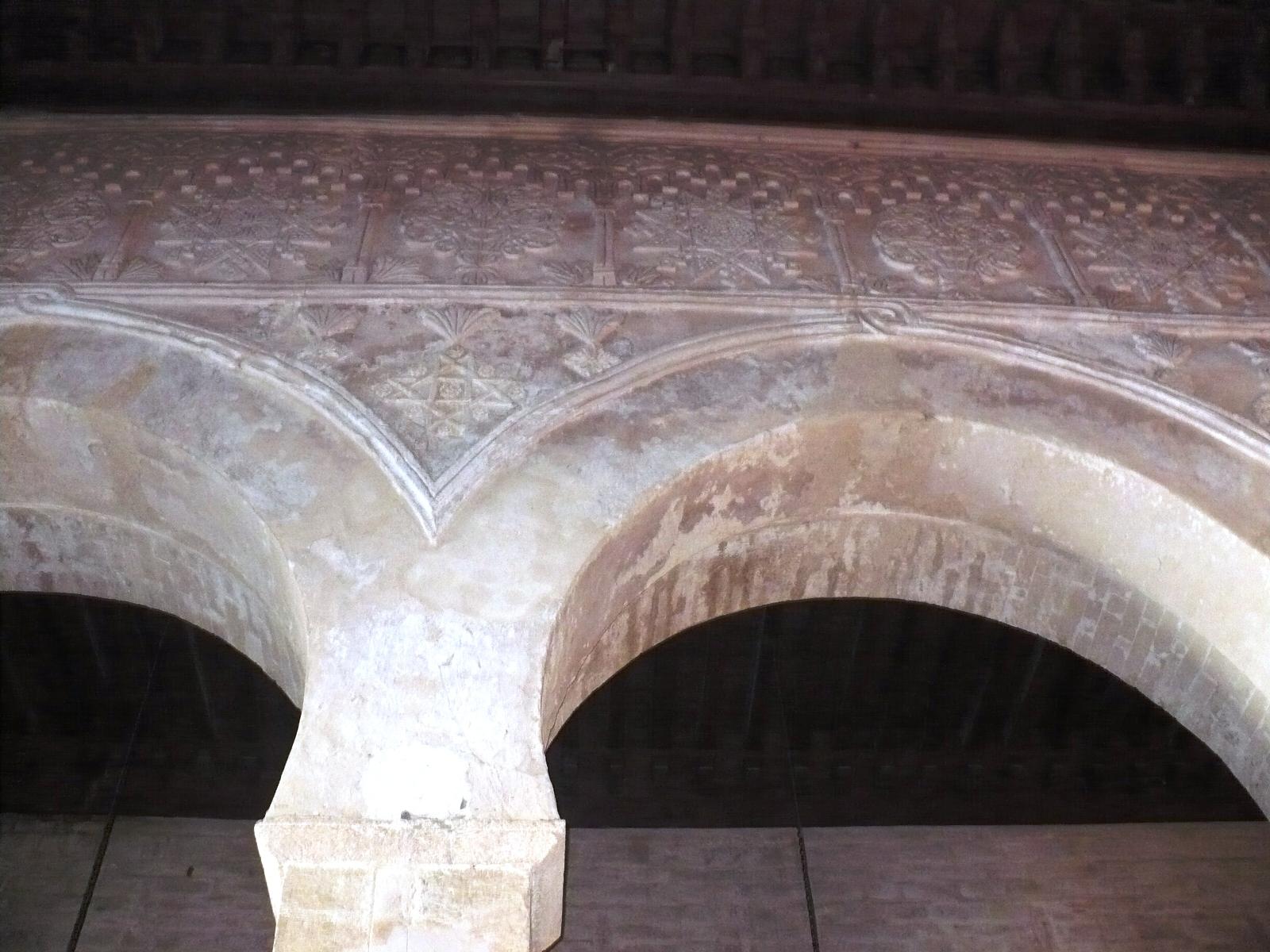 File d cor en pl tre sculpt salle de pri re de la grande for Decoration en platre