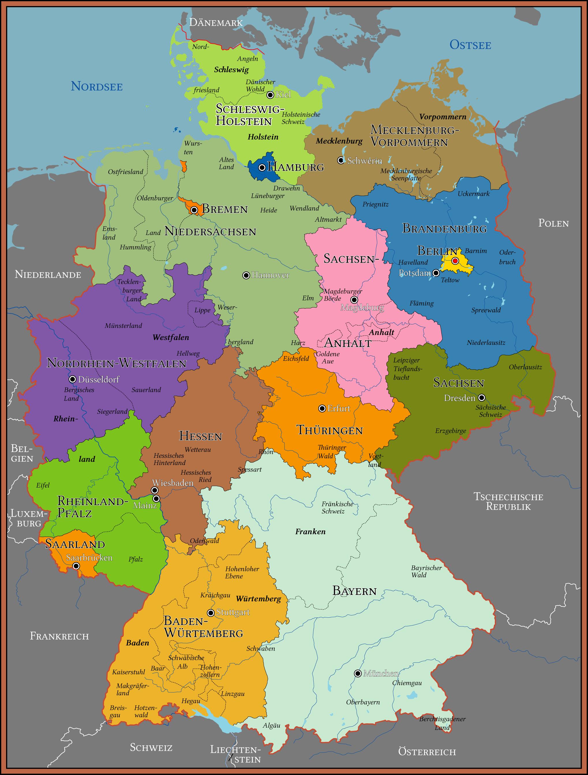 deutschlandkarte landkarte