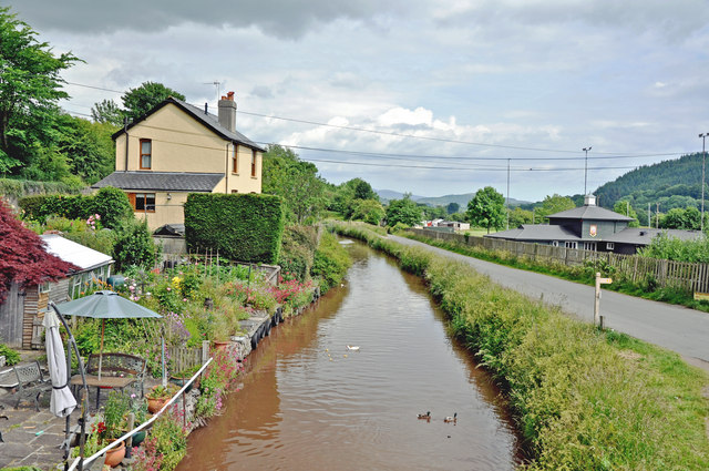 East of Bridge 165 on the Brecon Canal - geograph.org.uk - 1361251