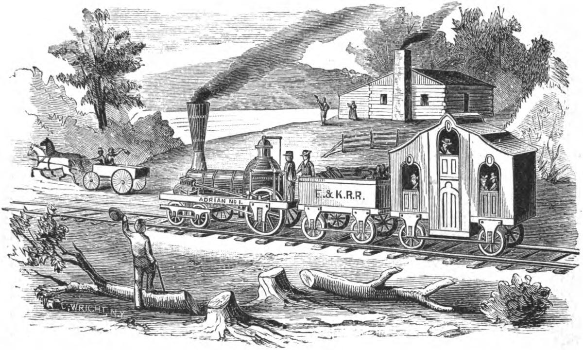 1837 : First Locomotive Powered Train in Michigan