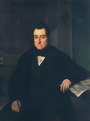 Buenaventura Carlos Aribau (1844), óleo de Joaquín Espalter y Rull (1809-1880).