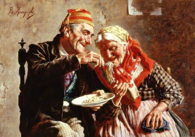 """Результат поиска для """"Обоедное удовольствие"""", Eugenio Eduardo Zampighi (1859-1944) Поделиться своим удовольствием"""