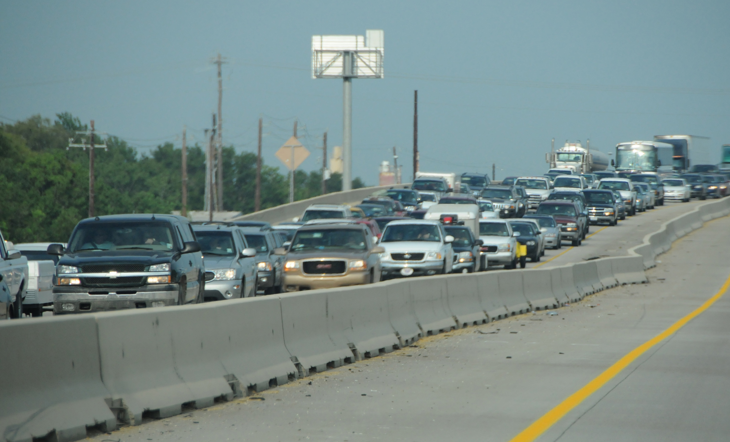File:FEMA - 37859 - Line of cars leaving Beaumont before the ...