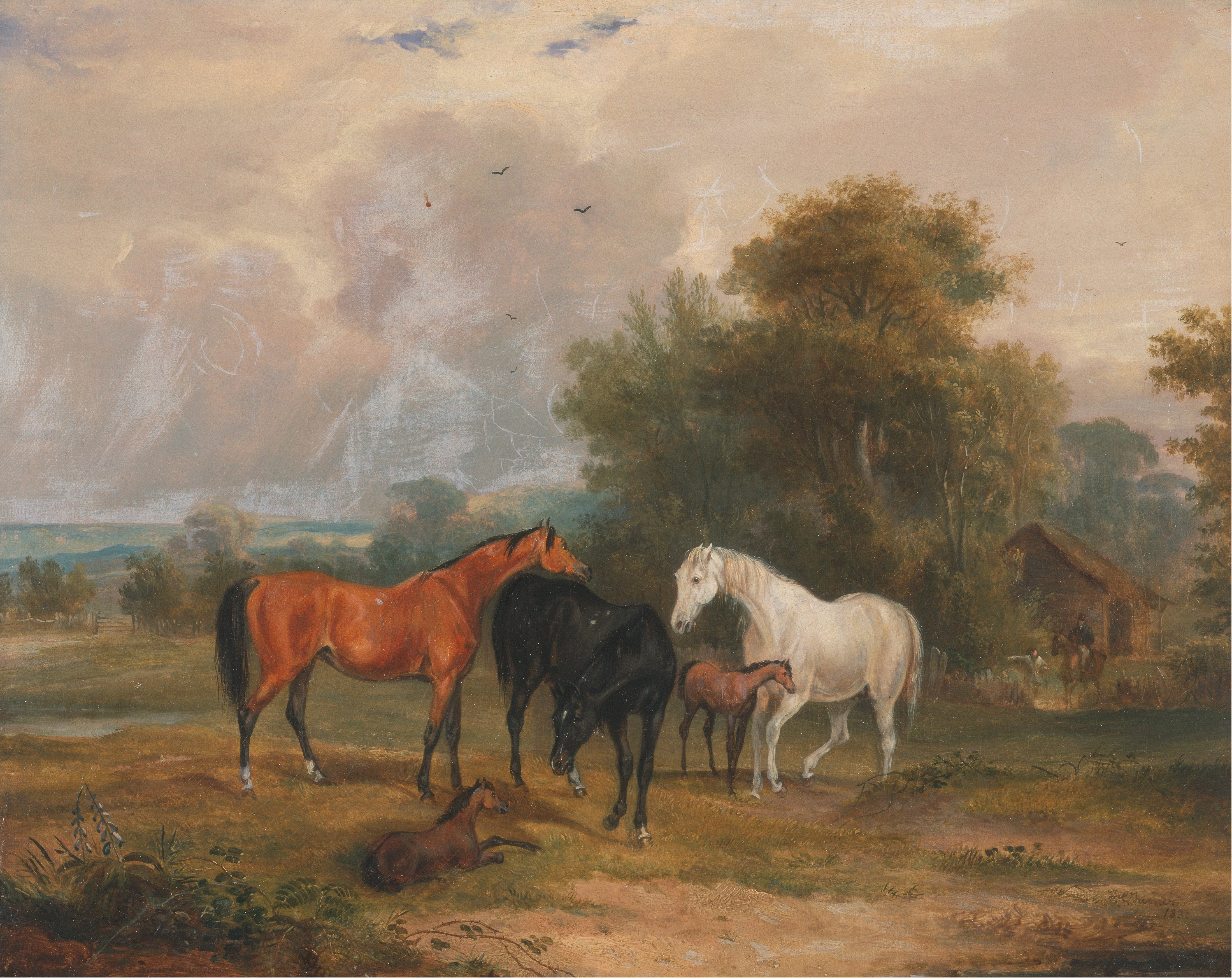 File Francis Calcraft Turner Horses Grazing Mares And