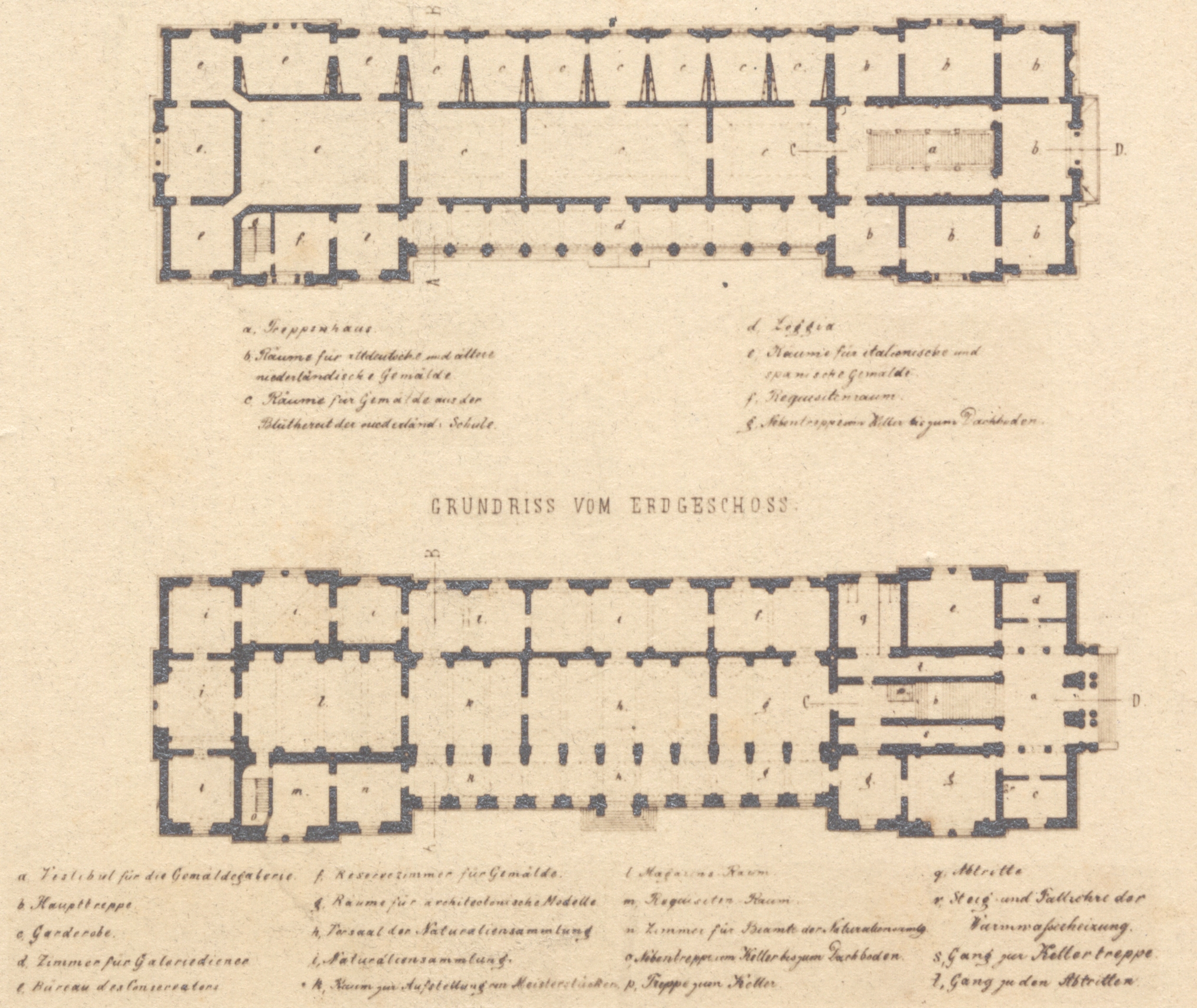 Musee D Orsay Floor Plan File Gem 228 Ldegalerie Kassel Grundrisse Um 1870 Jpg