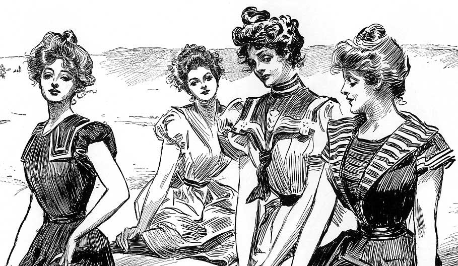 https://upload.wikimedia.org/wikipedia/commons/f/fb/Gibson_Girls_seaside_-cropped-_by_Charles_Dana_Gibson.jpg