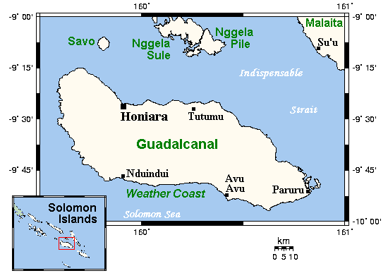 Where Is Guadalcanal On A Map Guadalcanal   Wikipedia