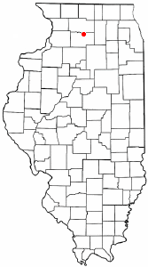 Location of Ashton, Illinois