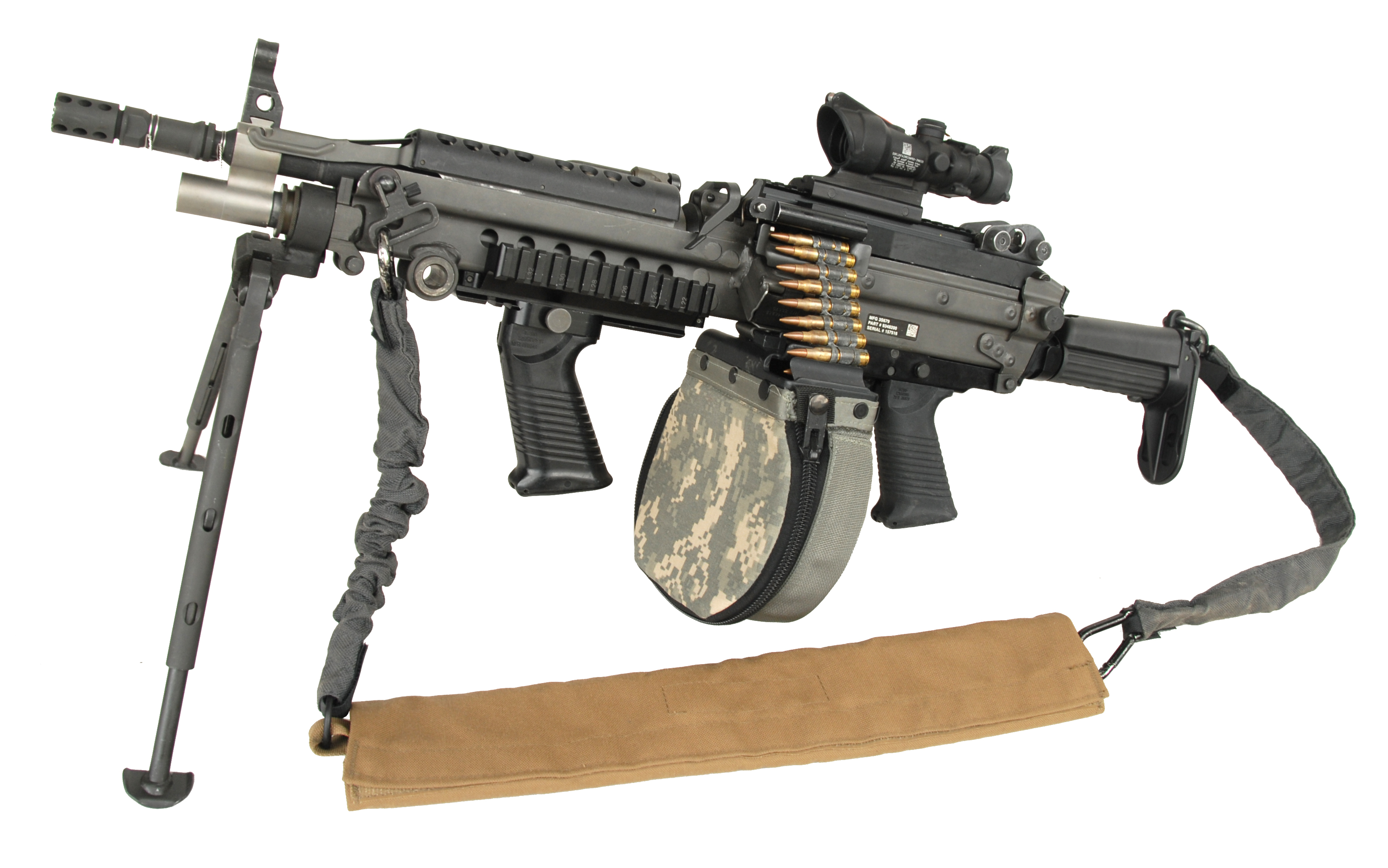 Description improved m249 machine gun
